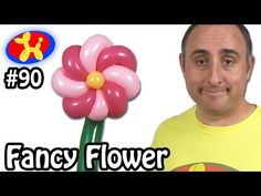 Fancy Flower - Balloon Animal Lessons #90 - YouTube