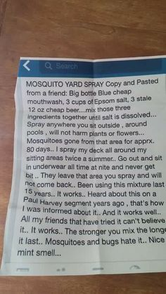 Mosquitos yard spray. I'm not sure what else this would keep away? I prefer to keep it natural around the home, keep the eco system going