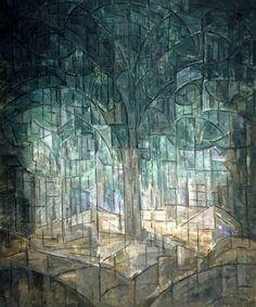 Jacoba van Heemskerck van Beest - Kleurencompositie nr. 6 (Bos)