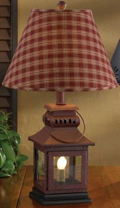 Check out the deal on Red or Black Iron Lantern Lamps at Primitive Home Decors