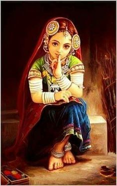 Just beautiful painting of a lambadi girl.........m