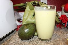 AVOCADO SMOOTHIES!  We are HOOKED on these!  They are sooo yummy- even the kids drink em up.  In a blender combine 1 avocado, 1 banana, 1/2c.  nonfat plain Greek yogurt, 1 1/2c. oj, 1/4c. honey and 3c. ice.  Blend until smooth.