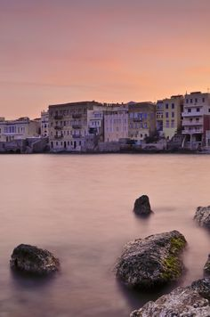 Pink Sunset, Ermoupoli, Syros Greece