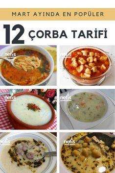 Mart ayının en beğenilen ve pek çok kişi tarafından denenen tam ölçülü çorba tarifleri burada. Köfteli, şehriyeli, terbiyeli çorbalar, ıspanaklı buğday, tavuklu toyga, yüksük, sarımsaklı havuç gibi lezzetli çorbalar tarifi ve sunumları için tıklayın.