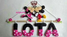 Felt Mickey and Minnie name banner https://www.facebook.com/sanjarilica