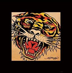 fb480a608ab7 Ed Hardy Tiger Poster - 15.75x15.75