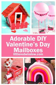 These cute Valentine's Day Mailbox Ideas will give you lots of inspiration for collecting your Valentine's Day cards! Lego Valentines, Unicorn Valentine, Valentine Day Crafts, Valentine Mailboxes, Diy Mailbox, Mailbox Ideas, Valentine's Day Emoji, Diy Card Box, Valentine's Day Printables