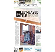 The front page of the Taunton Daily Gazette for Sunday, May 24, 2015.