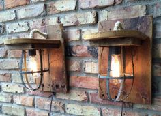 Lamps Rustic Sconce Wall Lighting Barn Wood