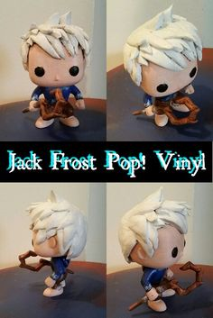 Jack Frost Custom Pop! Vinyl by ElolaWhen ^-^ (Rise of the Guardians)