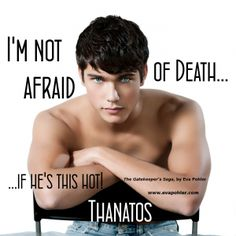 Thanatos T-Shirt, The Gatekeeper's Sons (Free on Amazon right now!)  ~ Dude be hot.