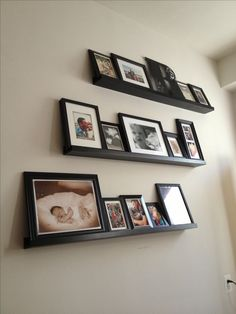 Ikea photo wall shelves