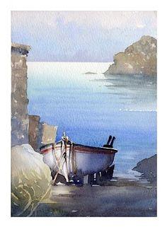 Thomas W Schaller「Greek Boat, 1」
