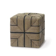 FRITZ ROPE SQUARE OTTOMAN by PALECEK - Available through MinorDetailsDesign.com - starting at $908