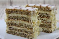 Esterhazy cake - a dessert from Austria Miss Fancy - Esterhazy Torte – ein Dessert aus Österreich Dessert Recipes For Kids, Desert Recipes, Gourmet Recipes, Fancy Recipes, Fancy Desserts, Fancy Cakes, Holiday Desserts, Esterhazy Torte, Bienenstich Recipe