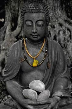 Boeddha met steen