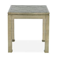 Coated in German silver, this handcrafted piece is sure add plenty of glamour and shine to the room. Trimmed with a raised honeycomb motif for added drama. Table Topics, Silver Side Table, Square Side Table, Beautiful Interior Design, End Tables, Home Furnishings, Entryway Tables, Furniture, German