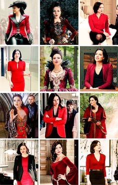 Awesome Regina Evil Queen Regina (Lana) Once she looks so good in red Regina Mills, Once Upon A Time Funny, Once Up A Time, Swan Queen, Red Queen, Regina Ouat, Regina Queen, Evil Queen Costume, Queen Outfit