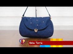 Bolsa de tecido/jeans Terrie.  DIY. Jeans bag. Fabric bag. Tote bag. Denim bags tutorial. - YouTube