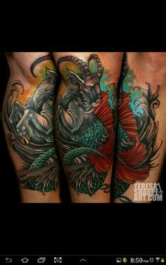 Teresa Sharpes style is so amazing. Have always been looking for a dope capricorn tat, this hits the nail on the head