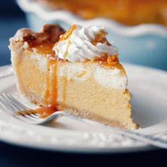 Pumpkin pie - czyli placek dyniowy z pomarańczą i sosem toffee No Bake Desserts, Delicious Desserts, Pie Recipes, Dessert Recipes, Recipies, Toffee, Food Porn, Pumpkin, Favorite Recipes