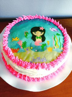 Mermaid Image Edible cake topper
