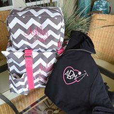 "Nurse's Tote Bag Set, 16"" Tote, 1/4 Zip Pullover Monogrammed, 2 DAY SHIPPING!! by StitchedInStyle1 on Etsy"