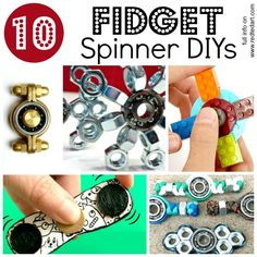 WOW! Must see how cool and easy these Fidget Spinner DIY ideas are. Learn how to make a Fidget Spinner, with these brilliant tutorial. My kids will go crazy