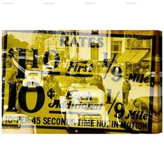 """Trent Austin Design New York Cab Rates Graphic Art on Wrapped Canvas Size: 24"""" H x 36"""" W"""