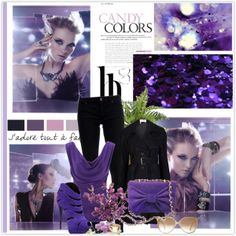 """""""Untitled #23"""" by anett-keberlova on Polyvore #polyvore #outfit #violet #black #farfetch #boticca #gucci"""