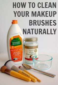 How to Clean Your Makeup Brushes Naturally - Simply Nicole