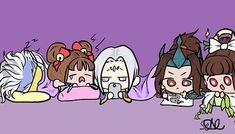 Moba Legends, Mobile Legend Wallpaper, Oriental, Bang Bang, Sleepover, Funny Comics, Chibi, Anime Art, Digital Art