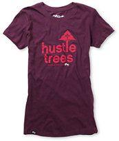 LRG Girls Hustle Trees Plum Purple Tee Shirt.