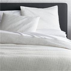 Lindstrom White Duvet Covers and Pillow Shams | Crate and Barrel