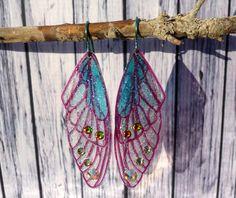 Ohrhänger - Ohrhänger Ohrringe aus Feenflügeln Titan Elfe Fee - ein Designerstück von Moss-Fairy bei DaWanda