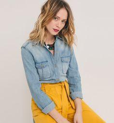 Koszula jeansowa jasny jeans - Promod