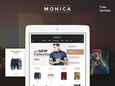 Monica is a premium UI kit including many useful elements and components to build modern ecommerce websites. Free PSD designed and released by Evatheme. Men Accesories, Social Media Pages, Ui Kit, Free Samples, Psd Templates, Ecommerce Websites, Graphic Design, Ux Design, Play