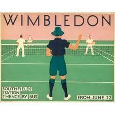 Vintage tennis poster #wimbledon