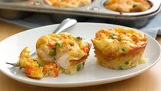 Impossibly Easy Mini Chicken Pot Pies. Use reduced fat Bisquick. Easy and portion controlled:-)