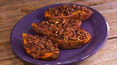 Pecan Praline Thrice Baked Sweet Potatoes