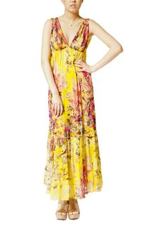 Jean Paul Gaultier soleil-Floral print long dress
