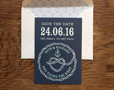 Nautical - Save the Dates, only with correct spelling