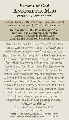 Catholic Kids, Catholic Prayers, Rosary Catholic, Pope Benedict Xvi, St Therese Of Lisieux, Special Prayers, Prayer Cards, John Paul, St Joseph