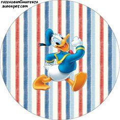 LARGE PRINTABLE SET- Pato Donald – Kit Completo com molduras para convites, rótulos para guloseimas, lembrancinhas e imagens! | Fazendo a Nossa Festa