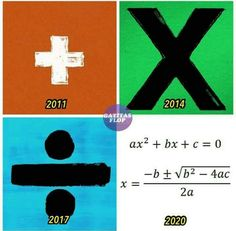 <<< Ed Sheeran is trying to help all of us with maths