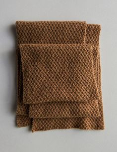 Double Seed Stitch Scarf | Purl Soho - Create