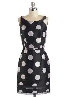 Dot Com & Collected Dress in Black, #ModCloth