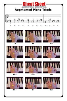 All the Augmented Piano Triads http://www.playpiano.com/101-tips/7-augmented.htm