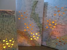 Map Luminary Bags,Travel Theme Decor