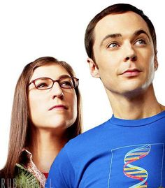 The Big Bang Theory: Sheldon (Jim Parsons) and Amy (Mayim Bialik).